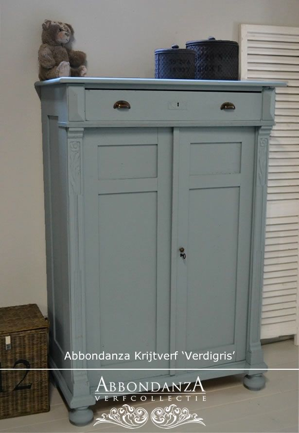 Abbondanza Verdigris krijtverf  meubels  Kast verven