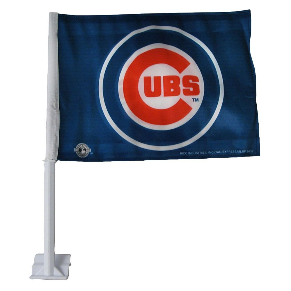 Rico Sporting Goods Chicago Cubs 19 Inch Car Flag Chicago Cubs Mlb Chicago Cubs