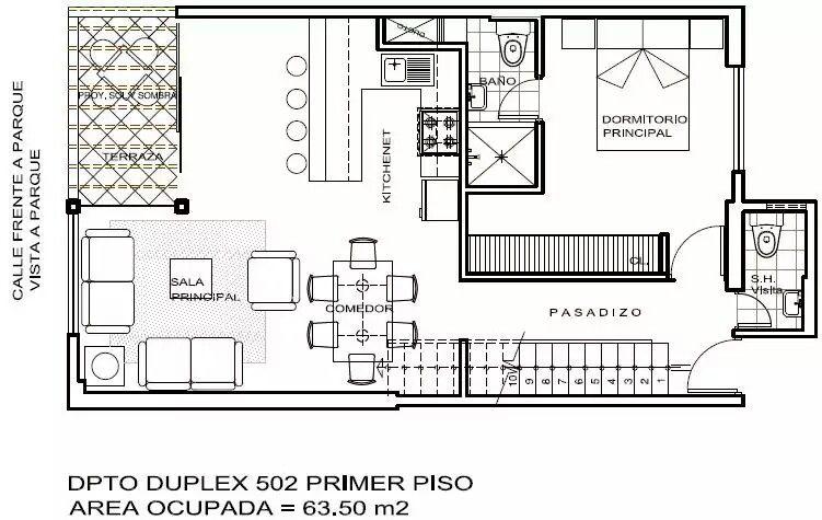 Duplex primer piso.