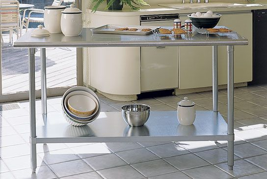 Beau Stainless Steel Chef Tables