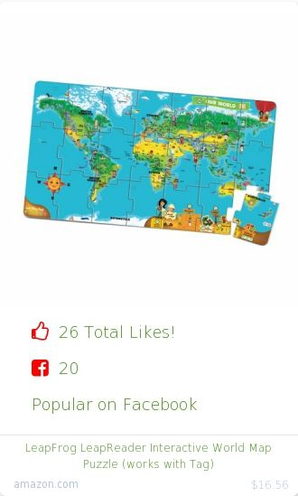 Top christmas gift on facebook 26 people likes on internet 26 people likes on internet leapfrog enterprises amazon christmas gift leapfrog leapreader interactive world map puzzle works with tag from amazon gumiabroncs