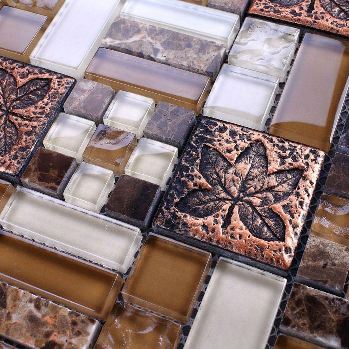 Glass tile mirror sheets wall tile kitchen backsplash wholesale ...