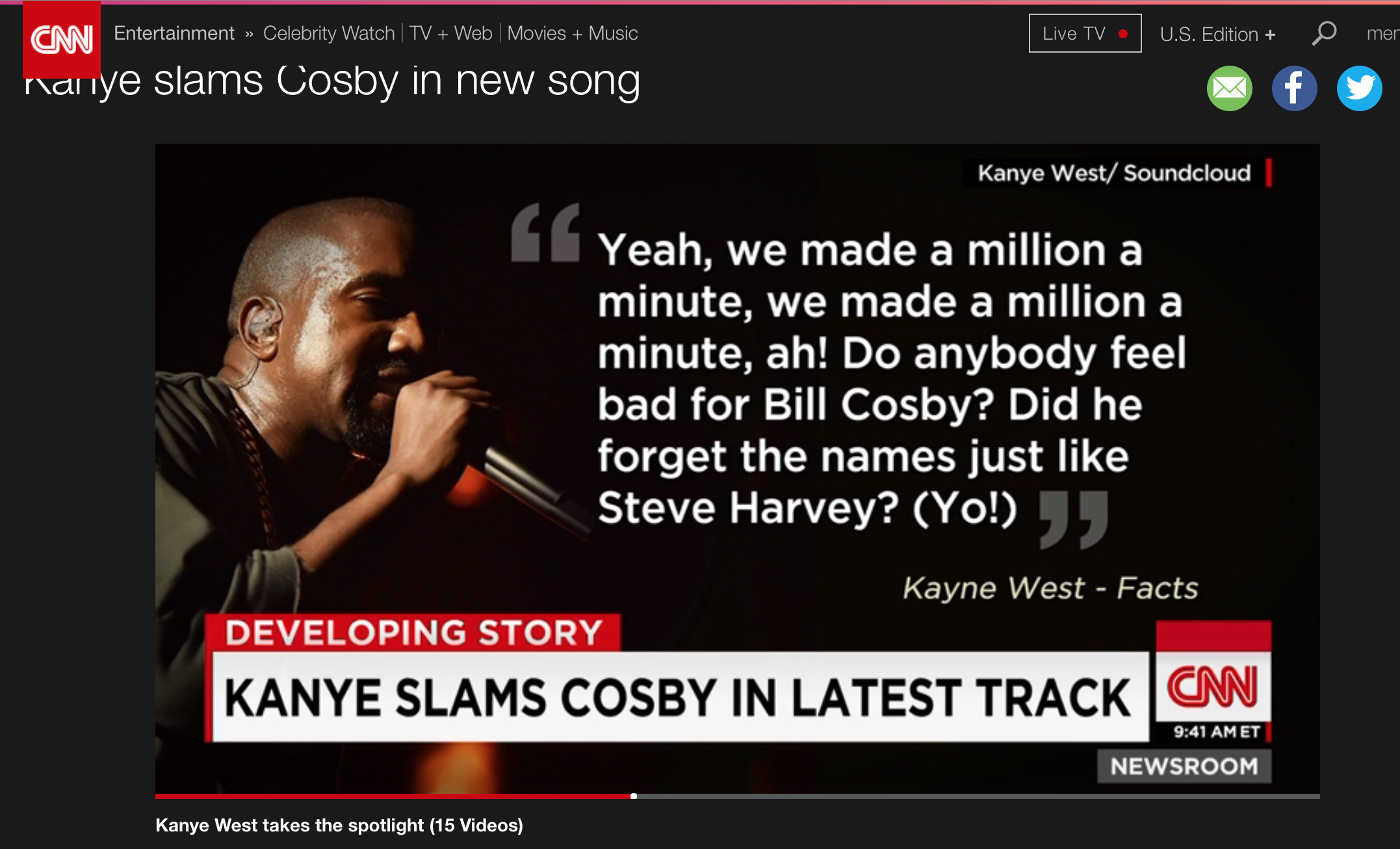 Kanye West Is Not On Team Cosby Pokes Fun At Steve Harvey News Songs Cosby