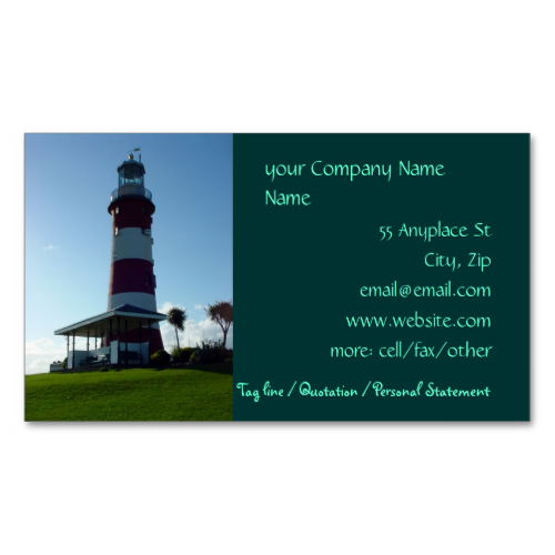 Lighthouse business cards template plymouth souvenir gifts lighthouse business cards template colourmoves