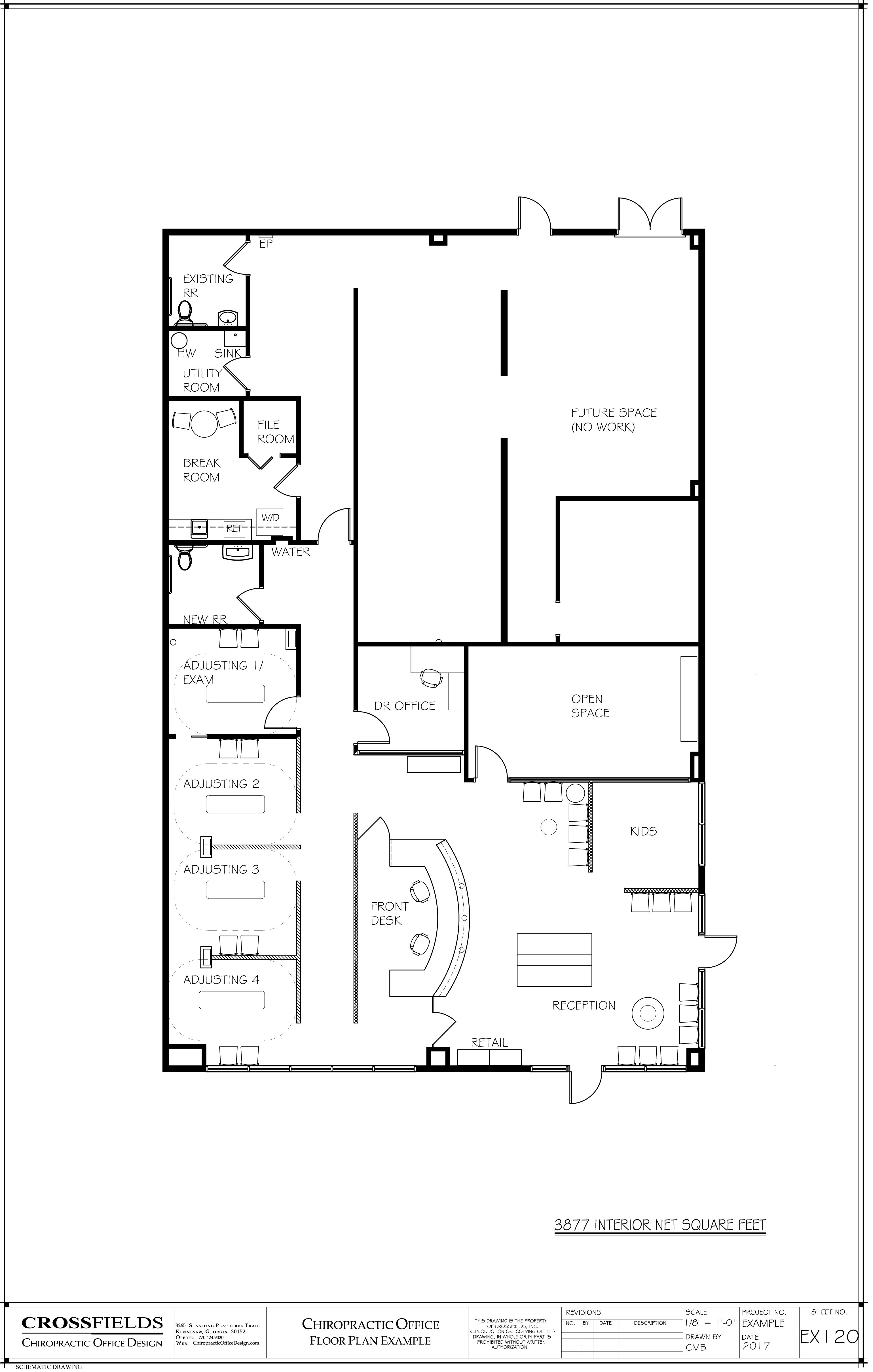 Chiropractic office floor plans chiropractic floor plans for Chiropractic office layout examples
