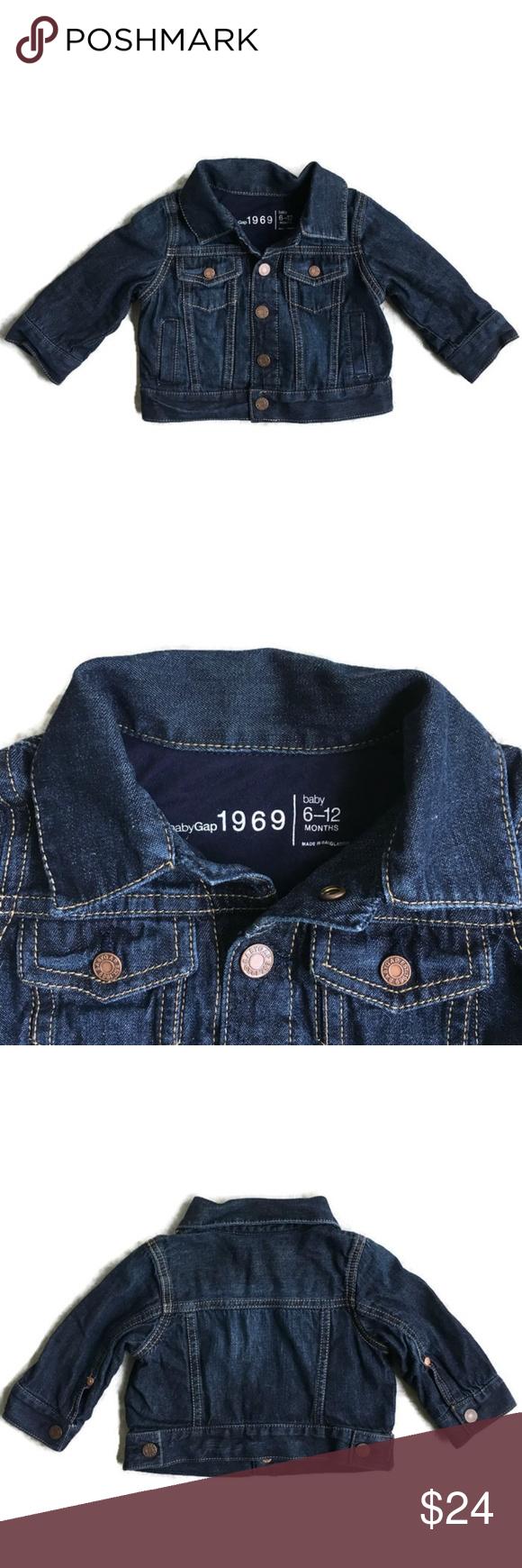 Gap 1969 Dark Wash Denim Jacket Sz 6 12 Months Dark Wash Denim Jacket Clothes Design Dark Wash Denim [ 1740 x 580 Pixel ]