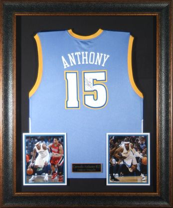 separation shoes 3b996 d1258 Carmelo Anthony Autographed Jersey Framed | Products ...