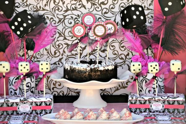 white and neon birthday cakes for tween girls Items used in this