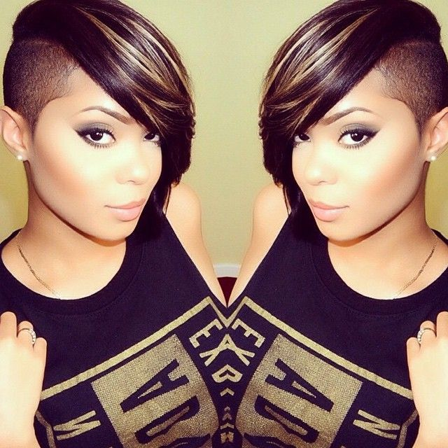 Awesome 1000 Images About Side Cut On Pinterest Shaved Sides Mohawks Short Hairstyles For Black Women Fulllsitofus