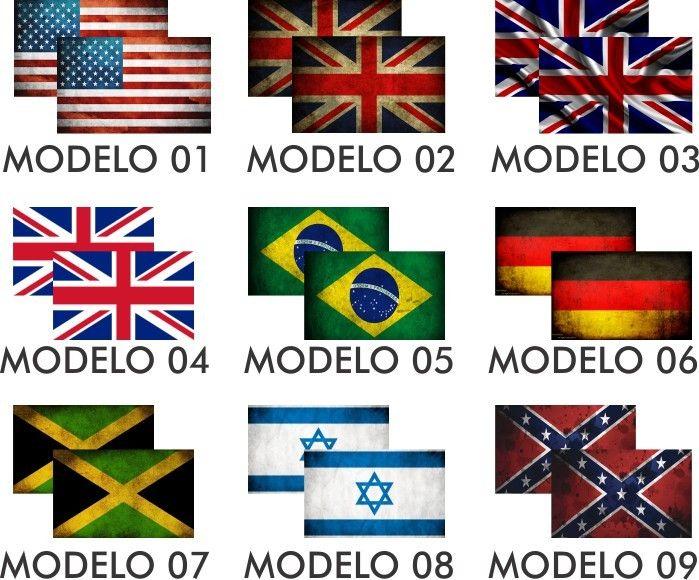 Adesivo Retrovisor Carro Bandeiras Times Flames Varios Model - R$ 24,90 em Mercado Livre