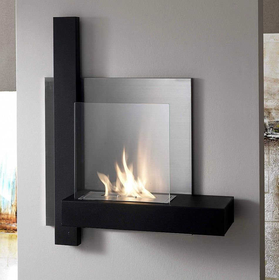 Wall Mounted Bioethanol Fireplace 12 By Stones In 2019