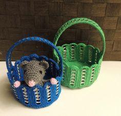Mandje met bliklipjes #haken #crochet #diy