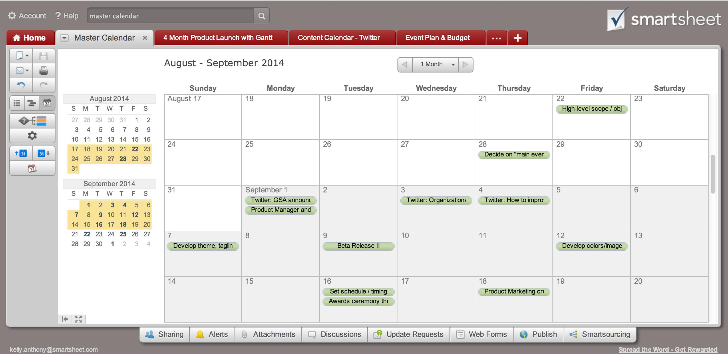 Tip create a calendar dashboard in 7 quick steps smartsheet tip create a calendar dashboard in 7 quick steps smartsheet nvjuhfo Gallery