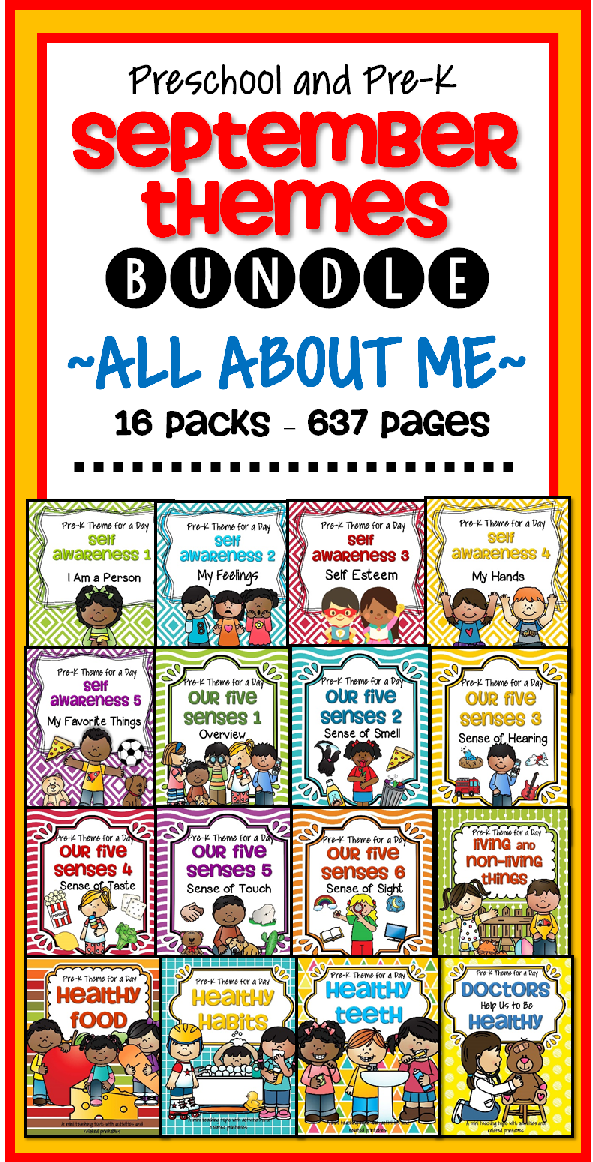 Printable Pages For September Preschool Themes, Lesson