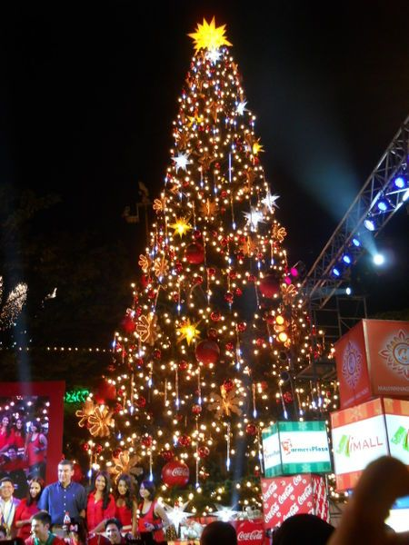 Christmas Tree Lighting Christmas In The Philippines Christmas Christmas Tree