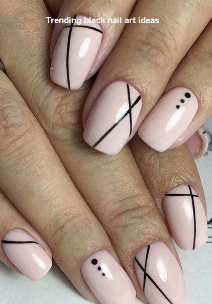 20 Simple Black Nail Art Design Ideas Naildesigns Nail Lines On Nails Line Nail Designs Best Nail Art Designs