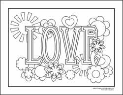 coloring pages peace love - photo#21
