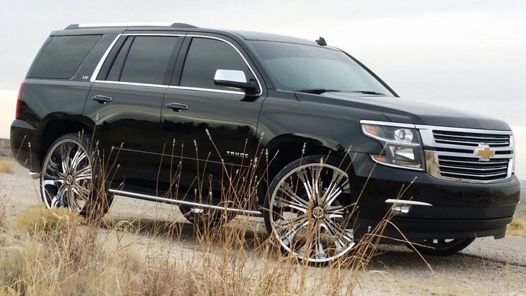 first 2015 tahoe on 28 inch wheels rides magazine trucks chevy rh pinterest com