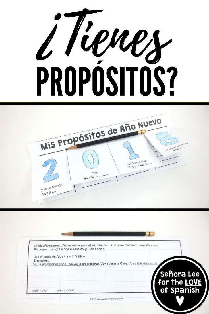 Spanish Resolutions - New Years Resolutions In Spanish -5295