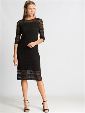 Black Solid Below Knee Dress Lc Waikiki Clothes Online Clothing Stores Knee Dress
