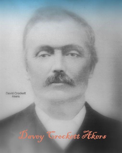 David Crockett Akers (1836 - 1907) - Vinson, Oklahoma-Find A Grave Photos