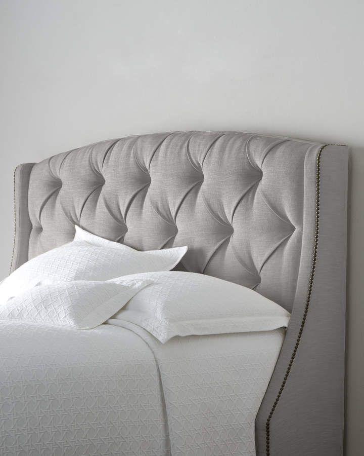 Bernhardt Rami Wing Queen Tufted Headboard Bed Furniture