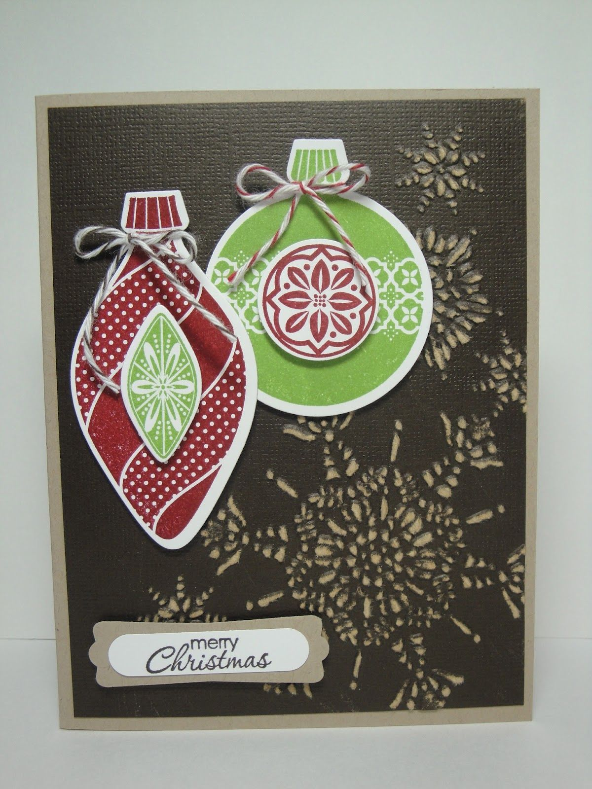 Stampin Up's Ornament Keepsakes stamp set with Northern ...