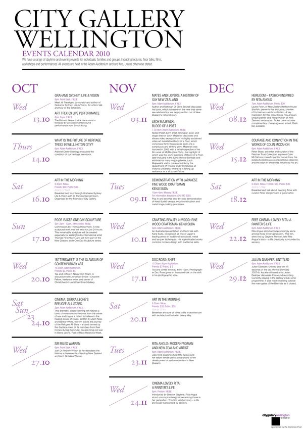 City Gallery Brochure  Calendar By Priya Chauhan Via Behance