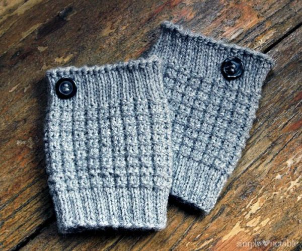 Easy Knit Boot Cuff Knitting Pattern By Simplynotable Crafts