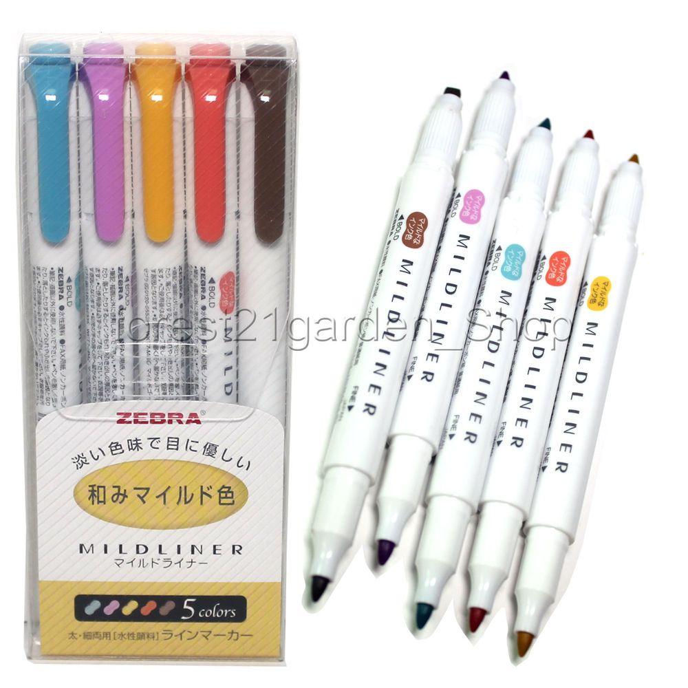 zebra mildliner double sided highlighte 5 cool u0026 refined color