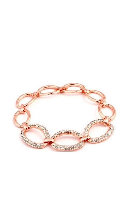 14k Rose Gold Plated Bracelet With Clear Crystals Worth 38 00 Ebay