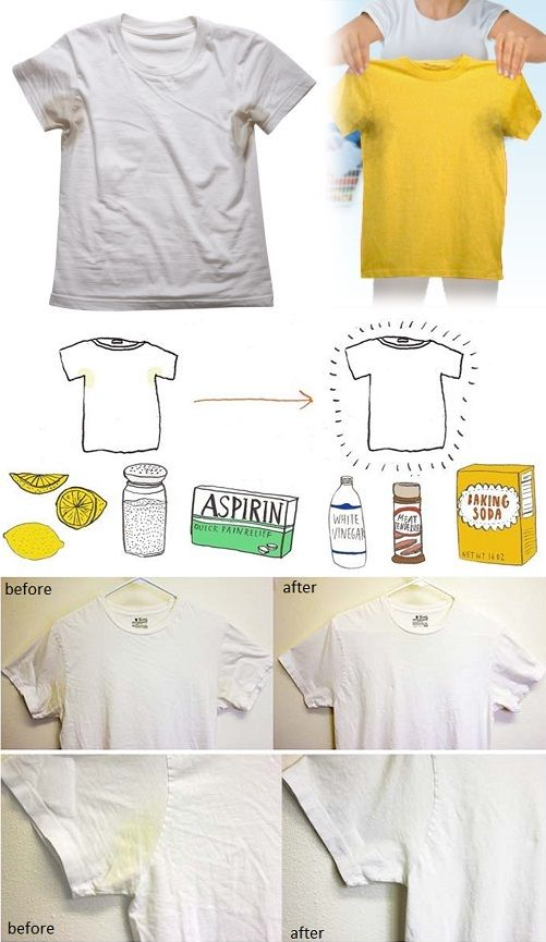 How To Remove Sweat Stains Diy Alldaychic Remove Sweat Stains Sweat Stains Yellow Underarm Stains