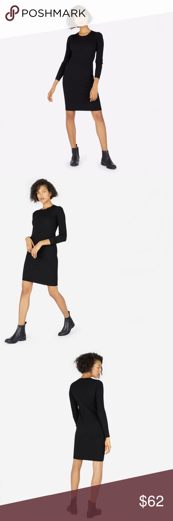 343719427be EVERLANE The Luxe Wool Ribbed Long Sleeve Dress EVERLANE The Luxe Wool  Ribbed Long Sleeve Dress Stretchable