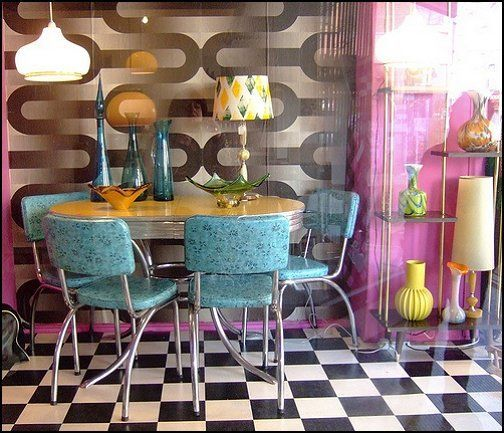 50 Dining Room Decorating Ideas And Pictures: ... 50s Theme Decor - 1950s Retro