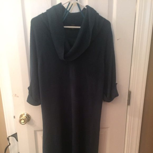 Susan Lawrence Woman dark teal sweater dress. 2x Like new. Worn once. Comes with matching belt if you want a fitted look. Can be worn with leggings too. 3/4 length sleeves. Susan lawrence Dresses Midi