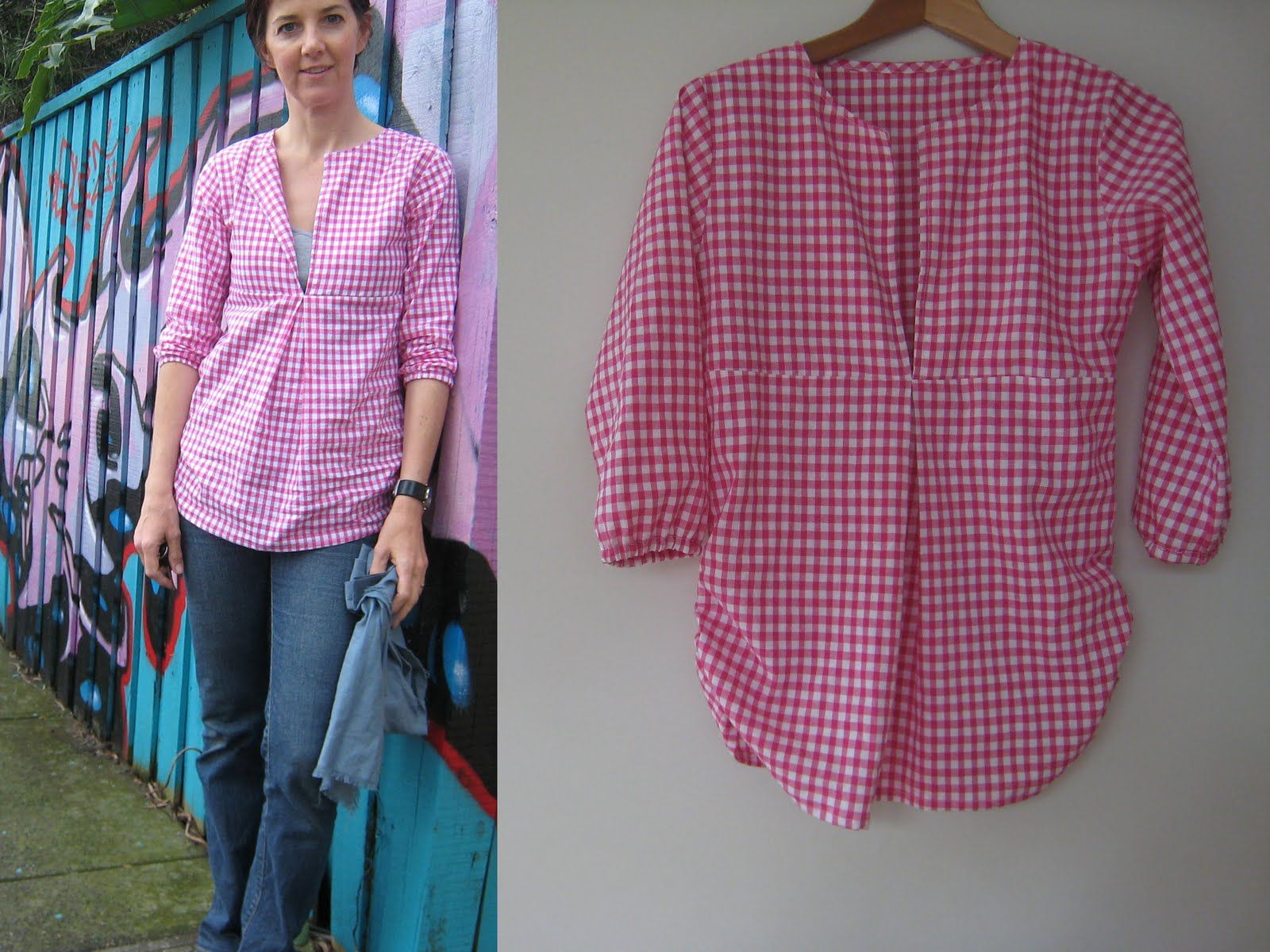 Schoolhouse Tunic with one pleat to the inside. Love it.   Costura ...