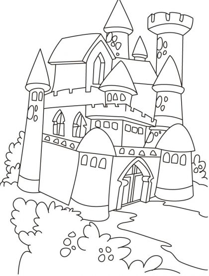 new castle coloring pages free new castle coloring