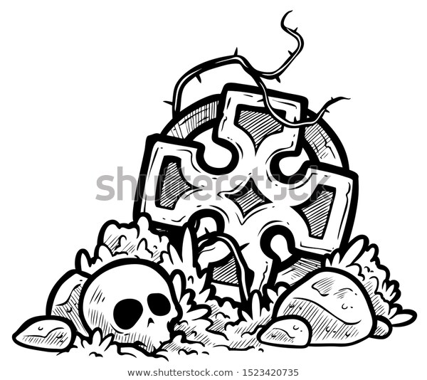 Graphicblack White Cartoon Image Wreckage Stone Stock Vector Royalty Free 1523420735 Cartoon Images Cartoon Stock Vector