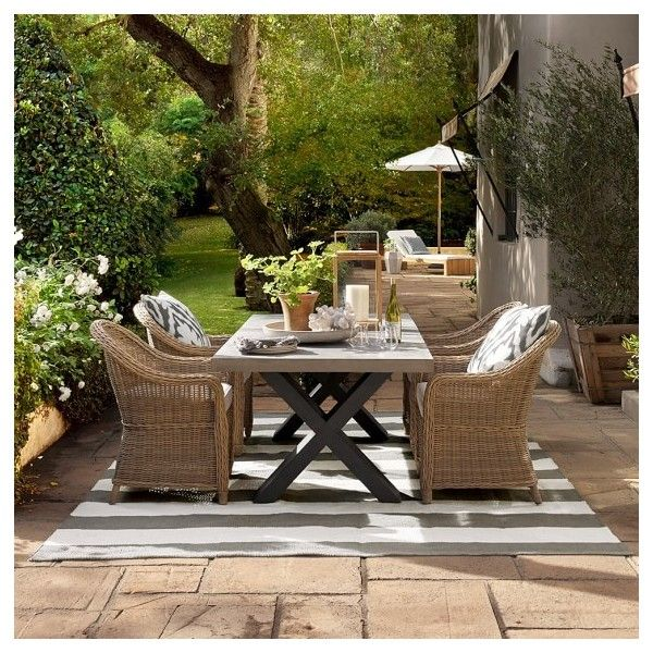 Williams Sonoma Navarro Outdoor Rectangular Dining Table 2 995 Liked On Polyvore Featuring