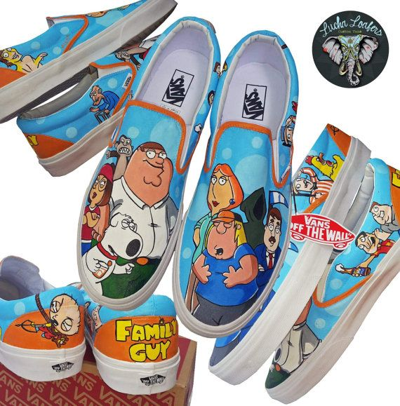 Family Guy Custom Vans by LuchaLoafers on Etsy