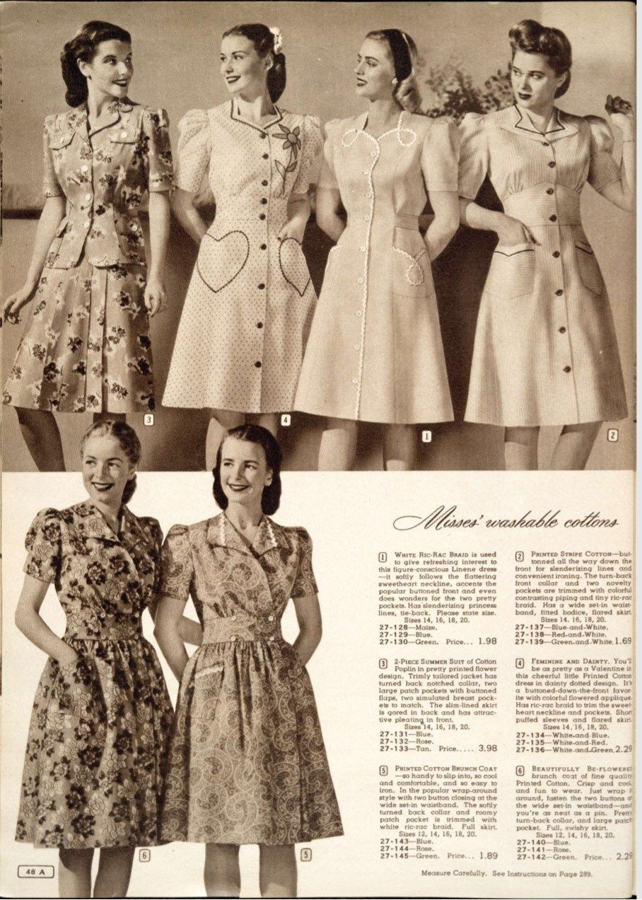 1940s Fashion And Style Trends In 40 Stunning Pictures: Inside A Canadian Simpson's Catalogue: Women's Fashions Of