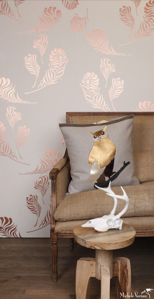 Plume Wallpaper Snow Copper   Michele Varian · Deko TapeteWand  IdeenSchlafzimmer ...