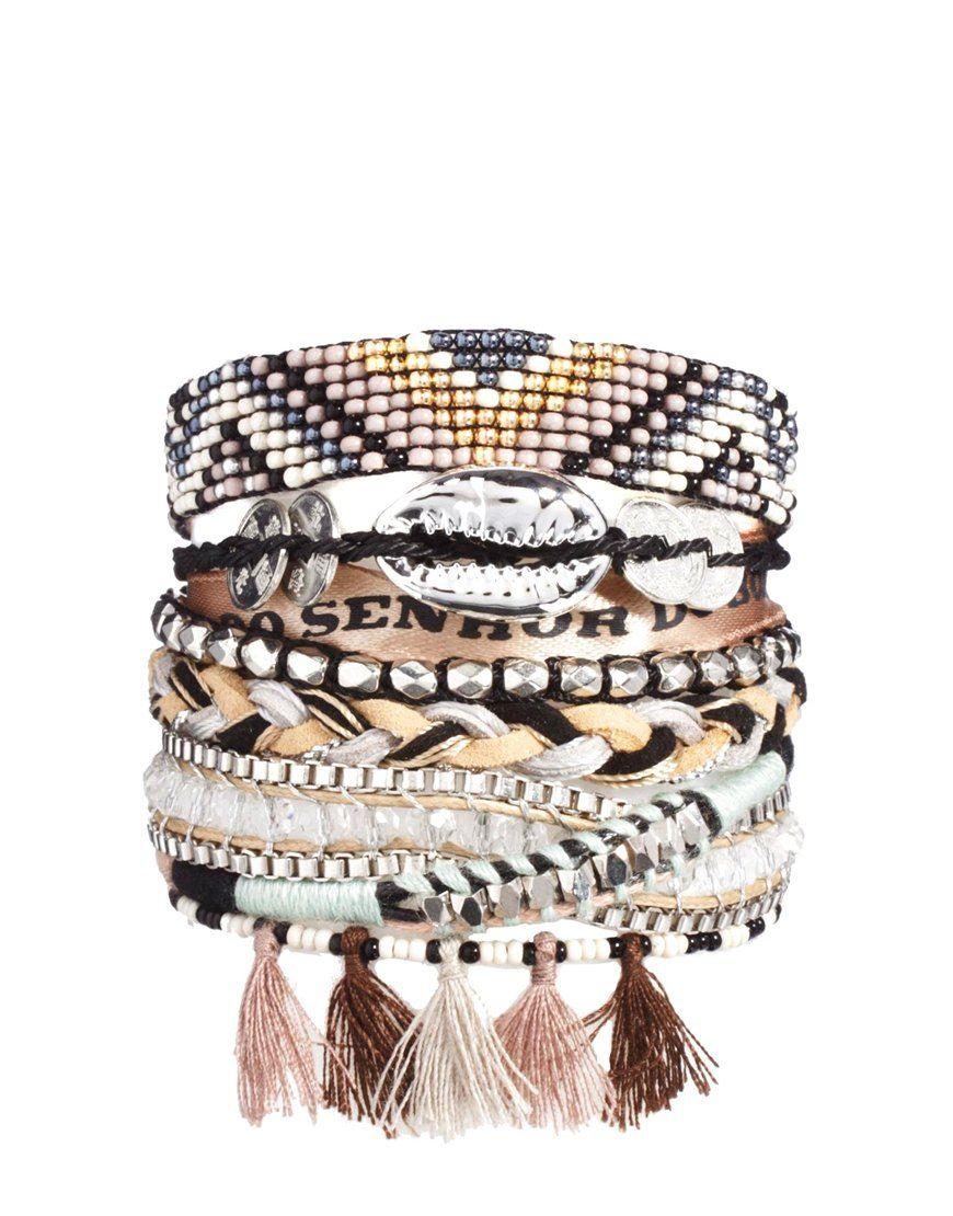 paquet à la mode et attrayant le plus en vogue profiter de prix pas cher Hipanema shadow bracelet #bracelet #pompom #hipanema ...