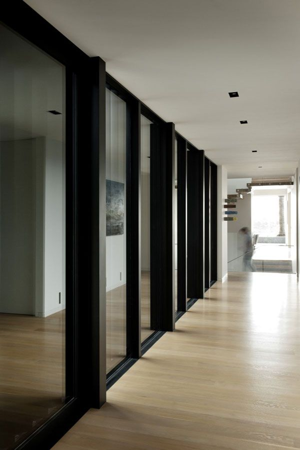 Architecture Glass Details Aluminium Frame Window Door Black Wooden Flooring Interior Design Magazine Top Designers Home Designs Ideas Free Modern