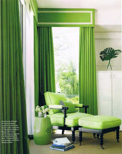 Christina Murphy Interiors Green Rooms Green Curtains Home