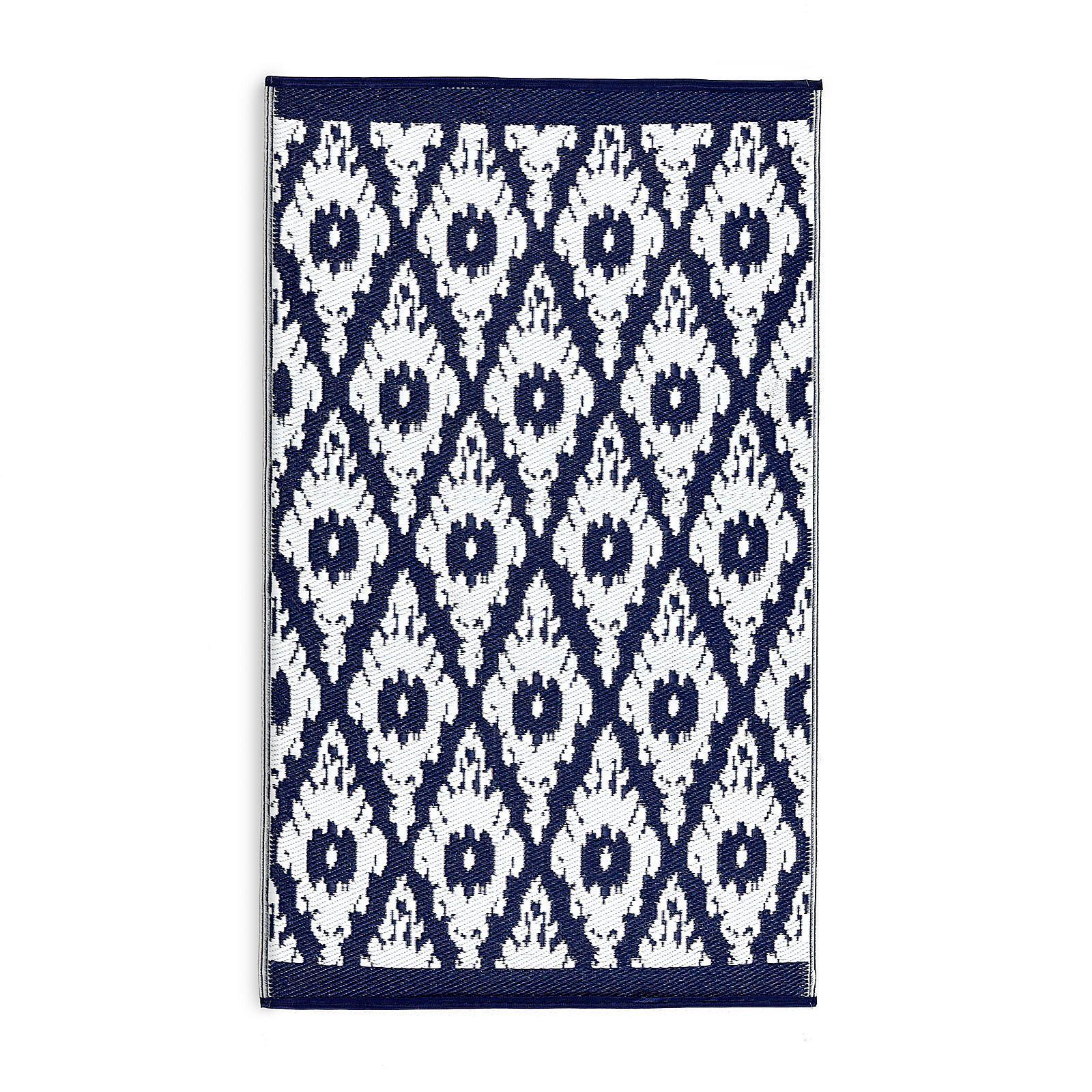 Depot Outdoor Teppich teppich outdoor dunkelblau ca b 150 x l 206 cm teppich für