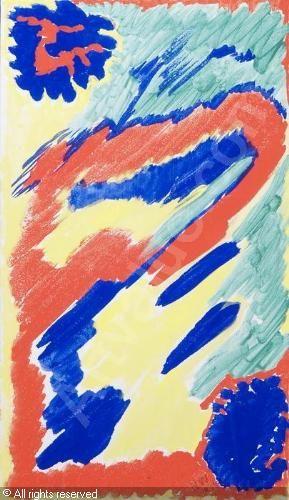 WALDEN Nell - Komposition in Rot, Blau, Gelb und Grün