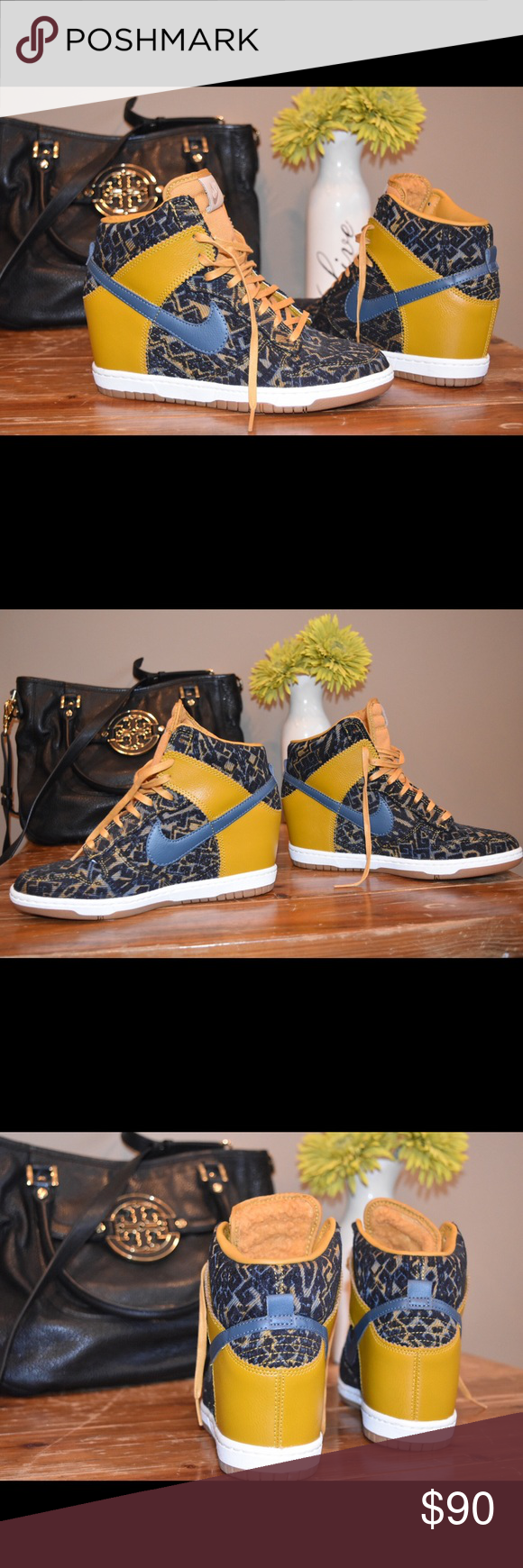 Size NIKE WMNS DUNK SKY HI TXT dunk sky high textile 644,410 001 that Nike in heel sneakers higher frequency elimination Lady's has a big
