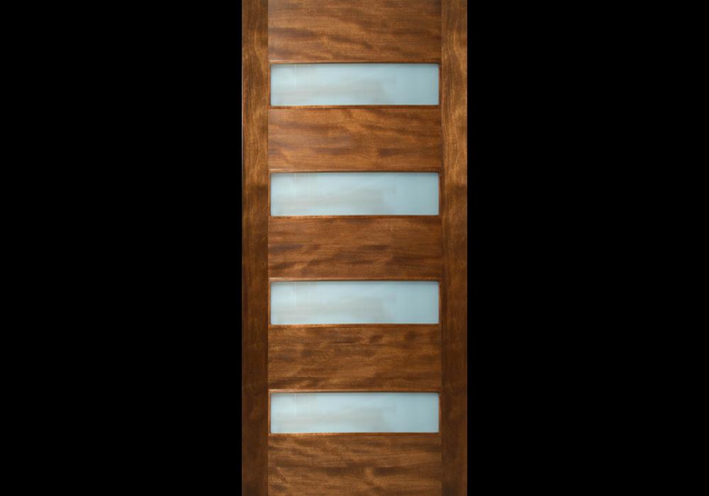 Etiam 4 Horizontal Lite Door With Laminate Glass 1 3 4 Most Popular Eto Contemporary Front Doors Exterior Entry Doors Modern Exterior Doors