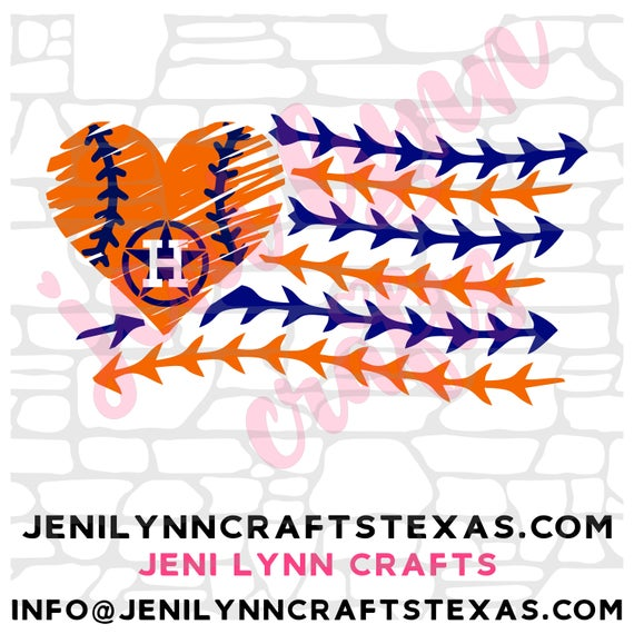 Download 2019 Astros Girly Laces Flag with Heart (SVG, JpG, PNG ...